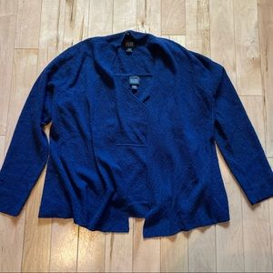 Eileen Fischer navy sweater set lightweight wool
